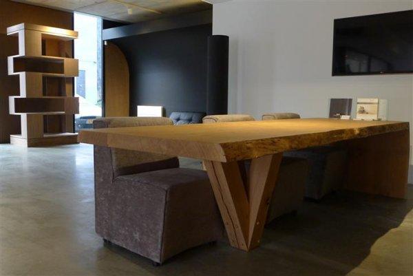 Robuuste eettafel eiken meubelmakerij geeraths - Houten meubels ...