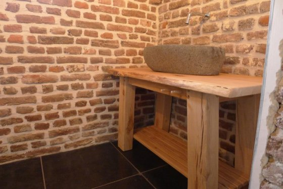 Badkamerkast Oud Hout : Oud houten badkamer meubel ≥ wastafel badmeubel oud eiken hout
