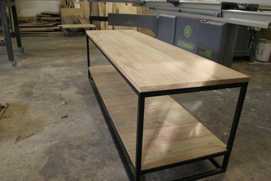Eiken met staal : eiken-meubelen.nl : Meubelmakerij Geeraths