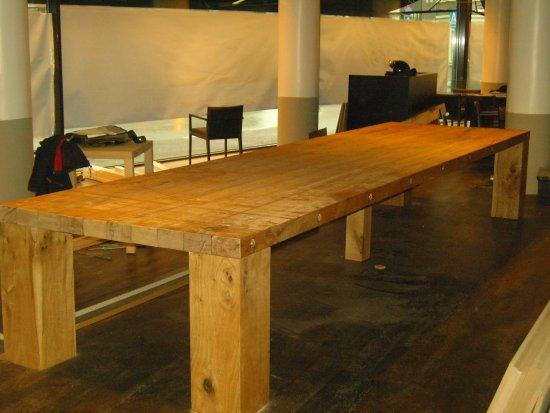 Eiken tafel Gigantico : eiken-meubelen.nl : Meubelmakerij Geeraths