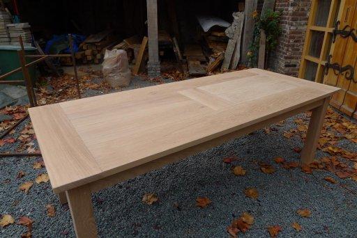 Eikenhouten tafel eiken meubelen meubelmakerij geeraths