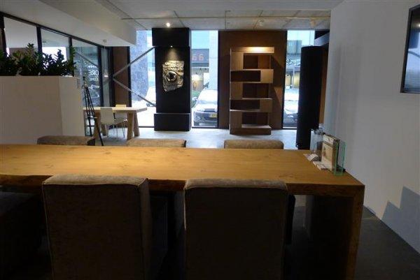 Unieke eiken tafel eiken meubelmakerij geeraths - Eigentijds eetkamer model ...