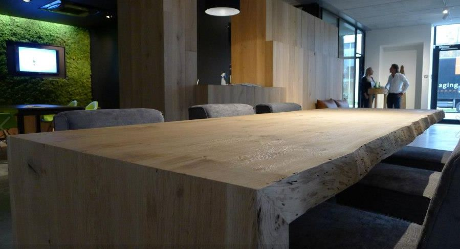Moderne Massieve Keuken : Eiken maatwerk tafels! eiken-meubelen.nl ...